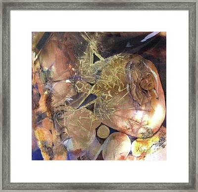 Love Triangle Framed Print by Donna Acheson-Juillet