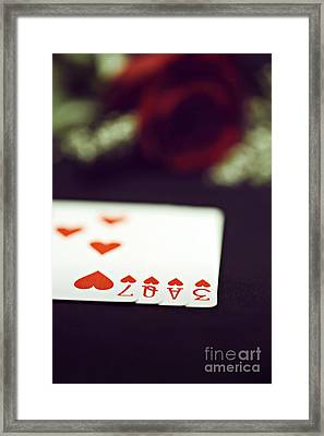 Framed Print featuring the photograph Love Trick by Trish Mistric