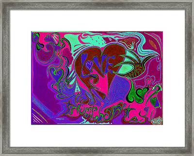 Love Triumphant 3of3 V2 Framed Print by Kenneth James