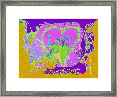 Love Triumphant V3 Framed Print by Kenneth James