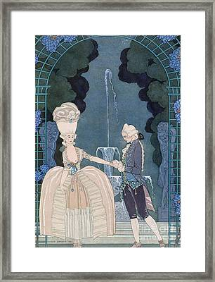 Love Under The Fountain Framed Print