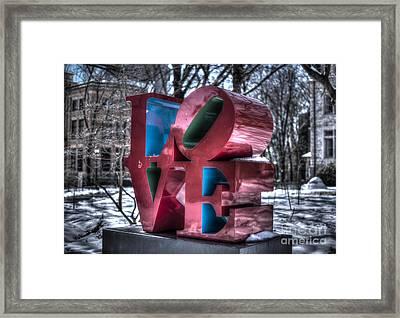 Love - University Of Pennsylvania Framed Print by Mark Ayzenberg