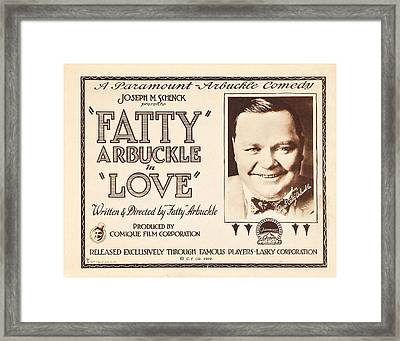 Love, Us Lobbycard, Roscoe Fatty Framed Print by Everett