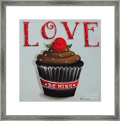 Love Valentine Cupcake Framed Print by Catherine Holman