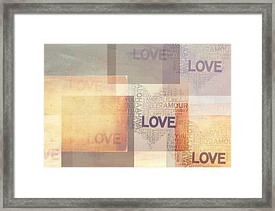 Love. Vintage. Creamy Pastel Framed Print by Jenny Rainbow