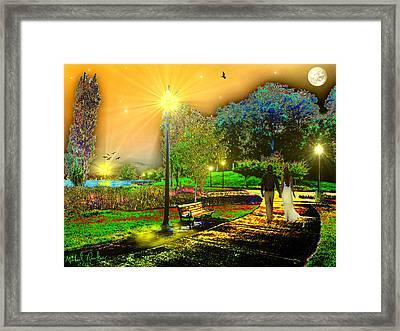 Love Walk Framed Print by Michael Rucker