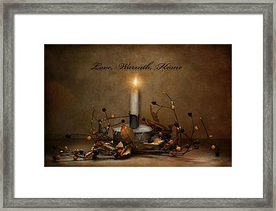 Love Warmth Home Framed Print by Robin-Lee Vieira