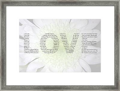 Will You Marry Me? Hidden Message 2 Framed Print by Christine Aylen