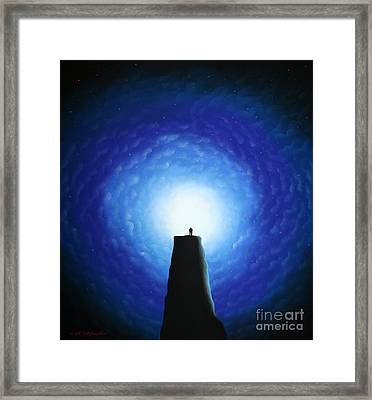 Love Will Show You The Light Framed Print by Chris Mackie