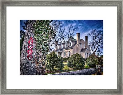 Love Windsor Castle Framed Print by Williams-Cairns Photography LLC