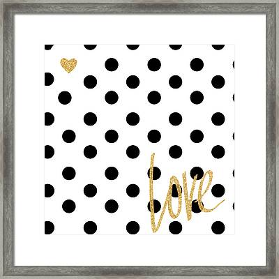 Love With Dots Framed Print by South Social Studio