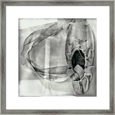 Love Written With Ballet Shoes Framed Print by Kike Calvo
