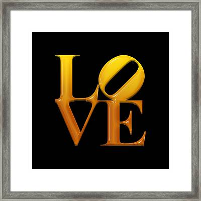 Love- Yellow N Orange2 Framed Print