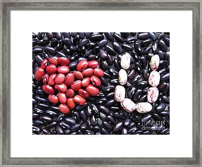 Love You Beans Framed Print by Ausra Huntington nee Paulauskaite