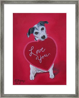 Love You Framed Print