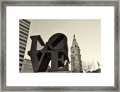 Love You Too Framed Print