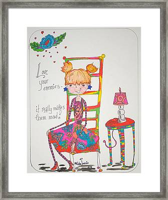 Love Your Enemies Framed Print by Mary Kay De Jesus