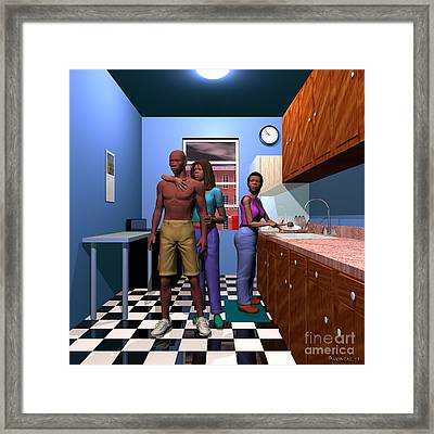 Love Your Sons Raise Your Daughters Framed Print by Walter Oliver Neal