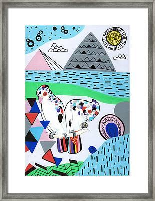 Lovebird Mountain Framed Print