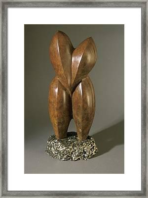 Lovebirds - Bronze  Framed Print by Manuel Abascal