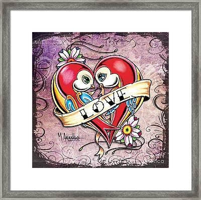 Lovebirds Framed Print by Maria Arango