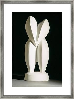 Lovebirds - Plaster Framed Print by Manuel Abascal