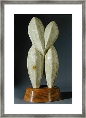 Lovebirds - Stone Framed Print by Manuel Abascal