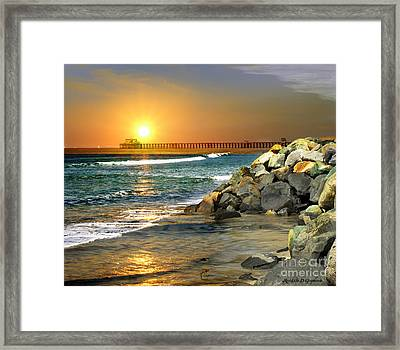 Loved By The Sun Framed Print