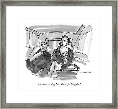 Loved Our Evening Framed Print by Michael Crawford
