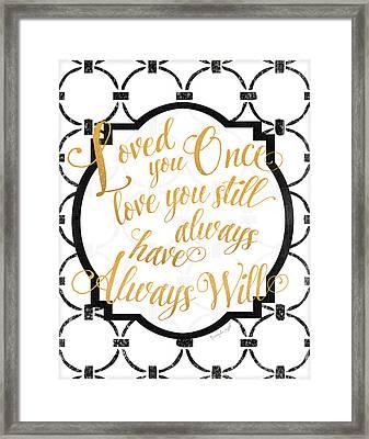 Loved You Once Framed Print by Jennifer Pugh