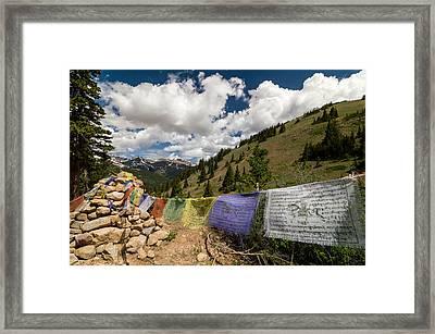 Loveland Pass Shrine Framed Print by Michael J Bauer