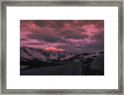 Loveland Pass Sunset Framed Print