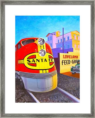 Loveland's Feed And Grain Framed Print by Alan Johnson