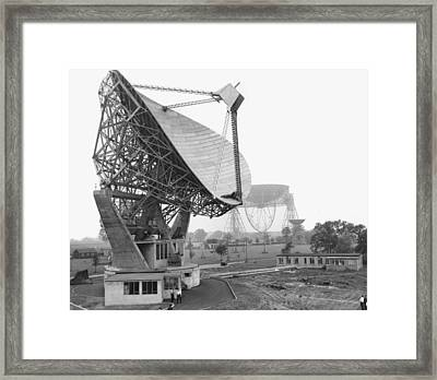 Lovell Radio Telescope, Historical Image Framed Print by Science Photo Library