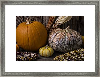 Lovely Autumn Still Life Framed Print by Garry Gay