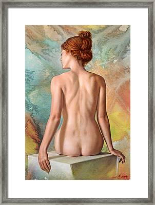 Lovely Back-becca In Abstract Framed Print by Paul Krapf