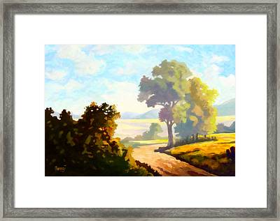 Framed Print featuring the painting Lovely Day by Anthony Mwangi