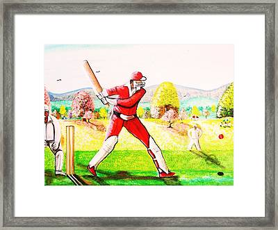 Lovely Day For Cricket. Framed Print by Roejae Baptiste