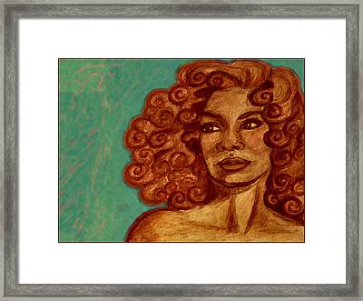 Lovely Face Framed Print