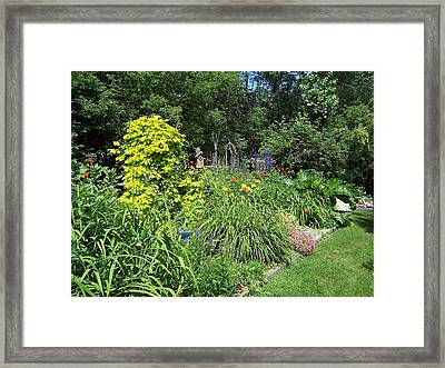 Lovely Garden Framed Print