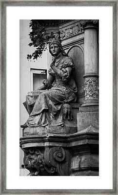 Lovely Lady And Lion Bw Cologne Framed Print by Teresa Mucha