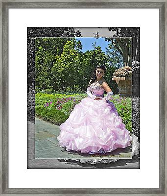 Lovely Lady At The Dallas Arboretum Framed Print