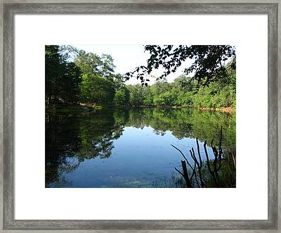 Lovely Lake Framed Print by Cleaster Cotton