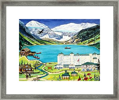 Lovely Lake Louise Framed Print by Virginia Ann Hemingson