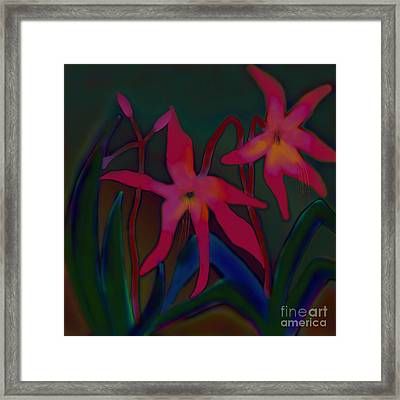Framed Print featuring the digital art Lovely Lilies by Latha Gokuldas Panicker