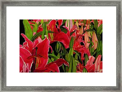 Lovely Lillies Framed Print by Debi Singer
