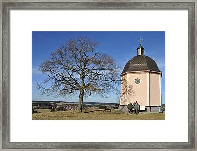 Lovely Little Chapel And A Tree Framed Print by Matthias Hauser