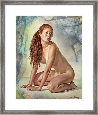 Lovely Muse Framed Print by Paul Krapf