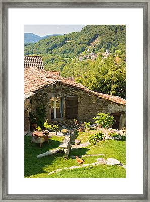 Lovely Old Stone House Ticino Switzerland Framed Print by Matthias Hauser