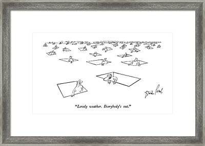 Lovely Weather.  Everybody's Out Framed Print by David Pascal